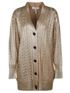 MSGM Knitted Cardigan - gold