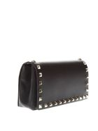 Valentino Garavani Black Leather Studs Clutch - Black