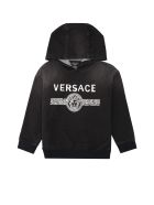 Young Versace Logo Print Cotton Set - grey