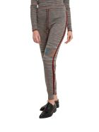 M Missoni Slub Fabric Joggers With Lurex Details - Grigio