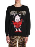 Moschino Crew Neck Sweater - NERO