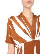 Paul Smith V-neck Dress - MARRONE