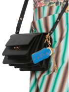 Marni Leather And Brass Keychain - BLUE