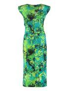Versace Printed Jersey Sheath-dress - green