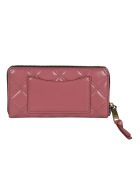 Marc Jacobs Quilted Zip-around Wallet - Red