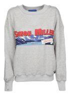 Simon Miller Simon Miller Mountain Print Sweatshirt - Grey Whith Sm Mountain Print