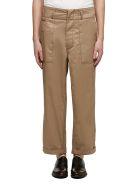 Marni Cropped Cargo Trousers - Nocciola