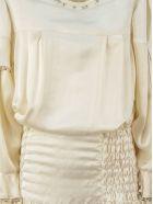 Lanvin Ecru Silk And Linen Blend Dress - Ecru