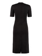 Givenchy Knitted Sheath Dress - black