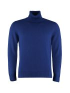 Drumohr Long-sleeve Wool Turtleneck - blue