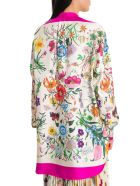 Gucci Oversize Shirt With Flora Print - Fuxia
