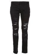 Balmain Zipped Destroyed Jeans - Pa Noir