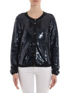 Emporio Armani Sequin Embroidered Jacket - Blu