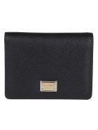 Dolce & Gabbana Black Leather Wallet - Black
