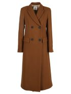 SEMICOUTURE Coat - Caffe