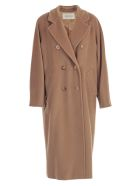 Max Mara Coat Madame Over Cashmere And Wool - Camel