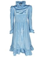 Batsheva Ruffled Dress - Azzurro