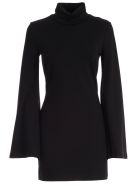 Sara Battaglia Dress L/s High Neck Pencil Jersey - Nero