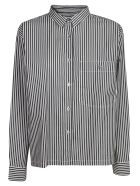 Closed Striped Shirt - Black