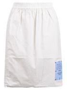 McQ Alexander McQueen Logo Patch Skirt - Cygnus Grey