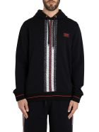 Burberry Larell Hoodie With Monogram Band - Black