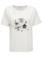 Saint Laurent T-shirt - Dirty ecru/noir/argent