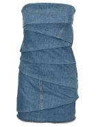 Philosophy di Lorenzo Serafini Philosophy Denim Bustier Mini Dress - LIGHT BLUE