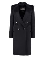 Max Mara Alba Cashmere Coat - blue