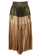 Sacai Asymmetric Pleated Skirt - KHAKI BEIGE