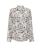 Paul Smith Paul Smith Silk Blouse In Picture Print - BIANCO