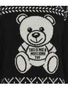 Moschino Pullover Fair Isle Teddy Bear - Fantasy print black