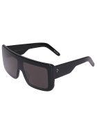 Rick Owens Black Oversize Sunglasses - Black