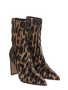 Fabio Rusconi High Heels Ankle Boots In Animalier Velvet - Animalier