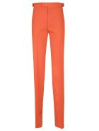 The Attico Long Straight Trousers - Orange