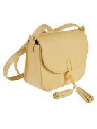 Furla Hanging Tassel Detail Shoulder Bag - Light Yellow