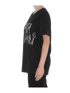 MM6 Maison Margiela Logo Hands T-shirt - Black