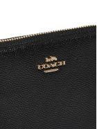 Coach Logo Plaque Zip Around Wallet - Nero