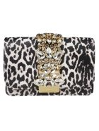 Gedebe Animal Print Shoulder Bag - White Leopard