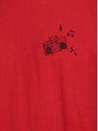 Saint Laurent T-shirt - Rouge delave/noir