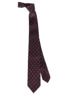 Barba Napoli Red And Blue Silk Tie - Red blue