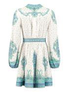 Zimmermann Printed Linen Dress - White