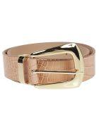 B-Low the Belt Cintura Jordana Mini Croco - Almg Almond Gold