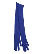 Maison Margiela Long Ribbed Gloves - Bluette