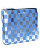 Comme des Garçons Wallet Comme Des Garcons Wallet Comme Des Garçons Checked Zip Pouch - BLUE SILVER