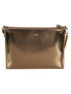 Rochas Logo Shoulder Bag - Gold