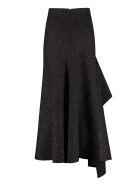 Alexander McQueen Asymmetric Skirt - black