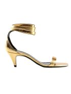 Saint Laurent Charlotte Sandals - Gold