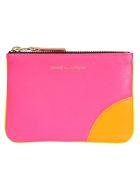 Comme des Garçons Wallet Super Fluo Wallet - Pink/yellow