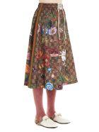 Gucci 'gg Supreme Flora' Skirt - Multicolor