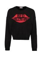 RED Valentino Intarsia Crew-neck Sweater - black